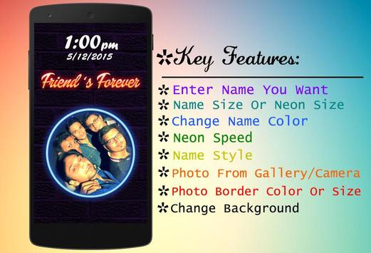 My Name Photo Neon Apk Screenshot