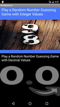 RandomNumbers apk screenshot