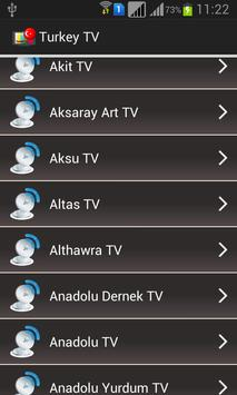Turkey TV Channels Online apk screenshot