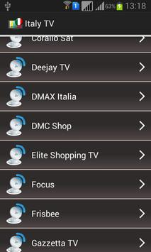 Italy TV Channels Online apk screenshot