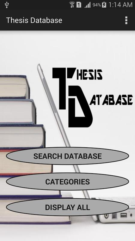 french thesis database French dissertations and theses there is a confusing variety of resources for finding french dissertations in 2012 these will be unified and there will be one national portal for all french theses but until then a number of sources have to be used (including thesa (the thesis database for les grandes écoles) not listed here because little.