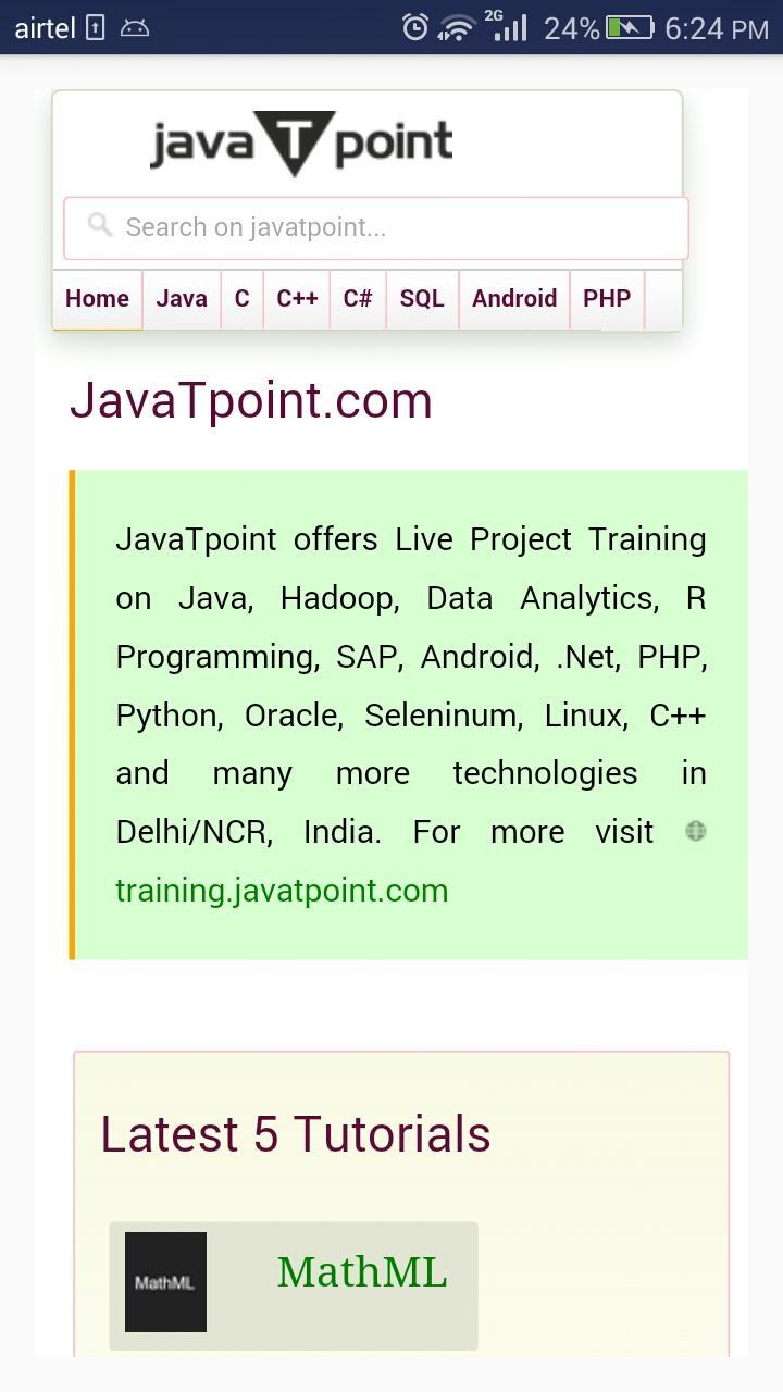 JavaTpoint (Official) for Android - APK Download