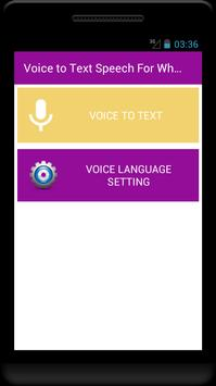 Voice to Text Speech - For whats app facebook chat screenshot 1
