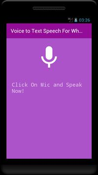 Voice to Text Speech - For whats app facebook chat screenshot 2