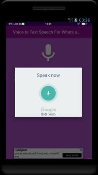 Voice to Text Speech - For whats app facebook chat screenshot 3