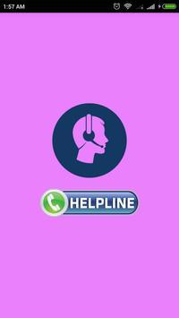 HelpLine Numbers poster
