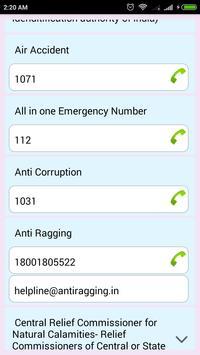 HelpLine Numbers apk screenshot