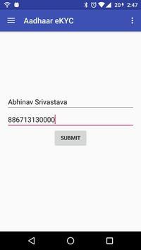 Aadhaar eKYC Verification screenshot 1