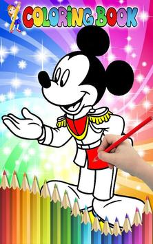 How to Color Mickey Mouse - Coloring Book screenshot 1