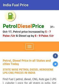 India Fuel Price poster