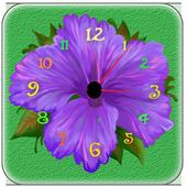 Flower Live  Clock Wallpaper icon
