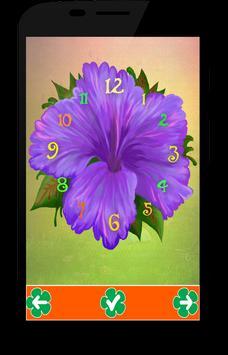 Flower Live  Clock Wallpaper apk screenshot