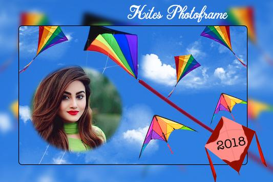 Kites Photo Frame 2018 - Makarsankranti Day Frame poster