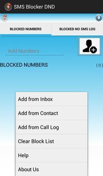 SMS BLOCKER DND apk screenshot
