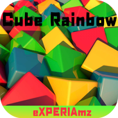 Тема eXPERIAmz - Cube Rainbow icon