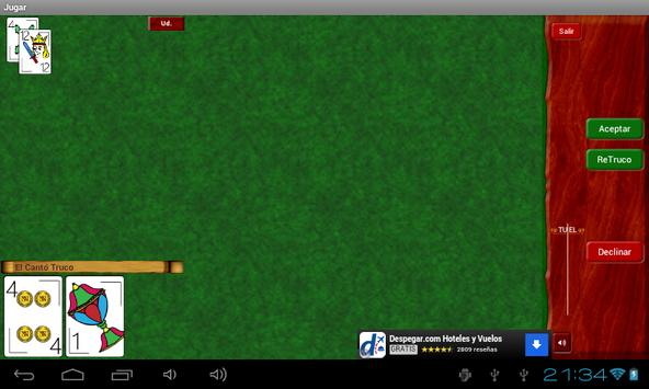 Truco Argentino Online apk screenshot