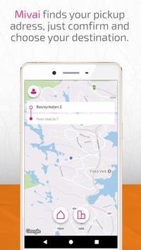 Mivai – Taxi app poster