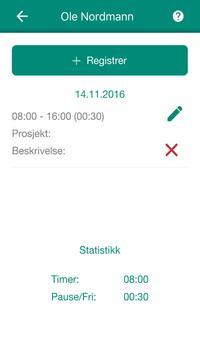 Timeregistrering screenshot 3