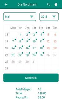 Timeregistrering screenshot 1
