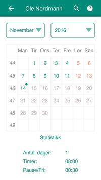 Timeregistrering apk screenshot