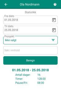 Timeregistrering screenshot 4