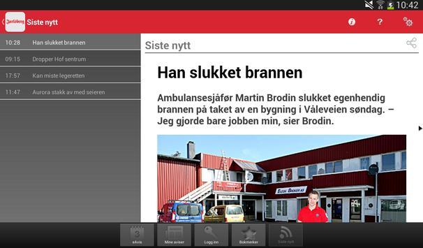 Jarlsberg Avis Digital Utgave apk screenshot