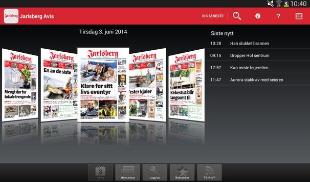 Jarlsberg Avis Digital Utgave poster