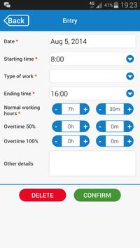 Timesheets+ apk screenshot