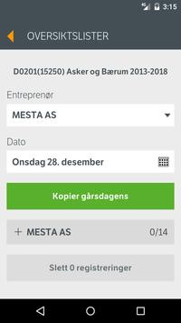 ELRAPP Entreprenør apk screenshot