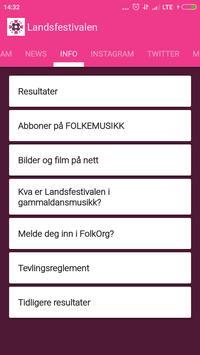 Landsfestivalen apk screenshot