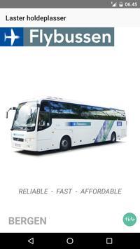 Flybussen Bergen billett poster