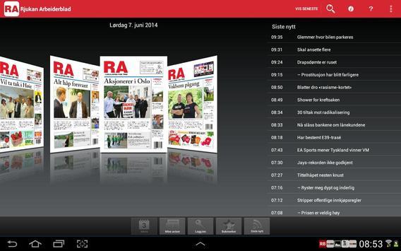 Rjukan Arbeiderblad Digital poster