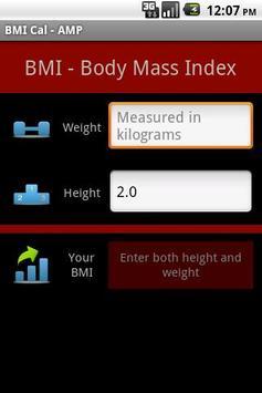 BMI Cal - AMP poster