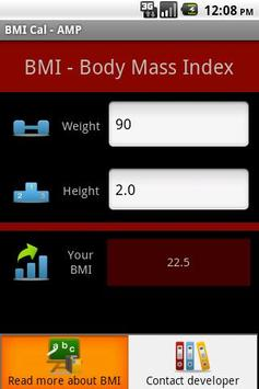 BMI Cal - AMP apk screenshot