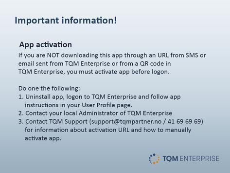 TQM Enterprise poster