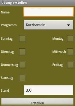 Trainingsplan screenshot 3
