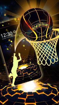 Neon Tech Basketball 3D Theme poster