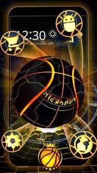 Neon Tech Basketball 3D Theme apk screenshot