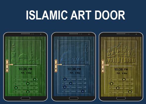 Islamic Art Door Lock Screen poster