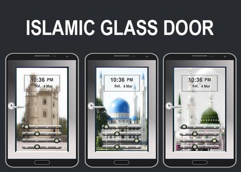 Islamic Design Glass Door Lock poster