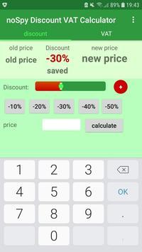 noSpy Discount VAT Calculator poster