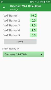 noSpy Discount VAT Calculator screenshot 4