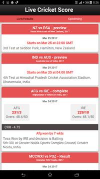 Live Cricket Score poster