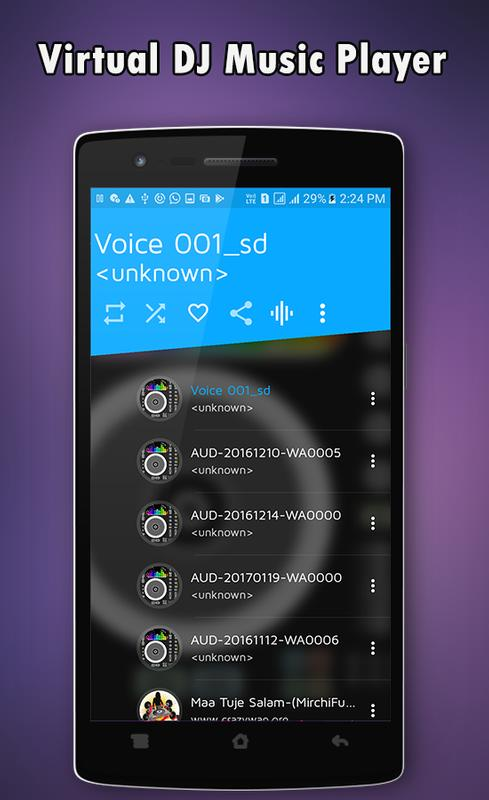 virtual dj player for android mobile