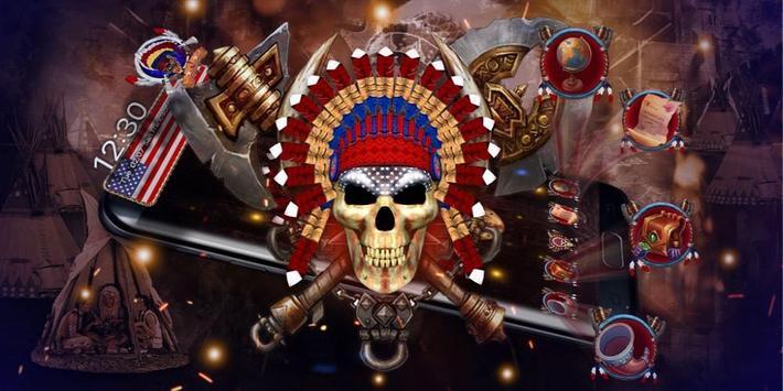 3d Nativ American Skull screenshot 3