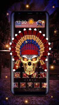 3d Nativ American Skull poster