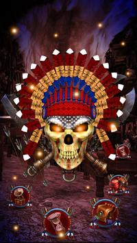 3d Nativ American Skull Theme apk screenshot