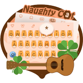 Naughty Cat Theme&Emoji Keyboard icon