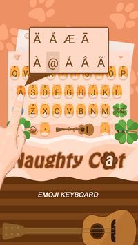 Naughty Cat Theme&Emoji Keyboard apk screenshot