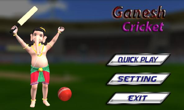 Ganesha Cricket poster